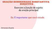 Oração subordinada subjetiva