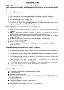 ATIVIDADE DE COESÃO - ENEM