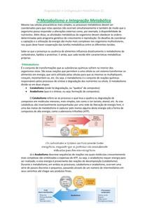 Metabolismo e integração metabolica