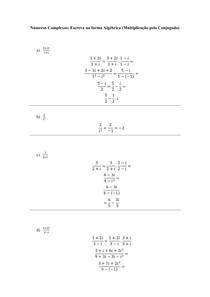 Números Complexos - Escreva na forma Algébrica (Multiplicação pelo Conjugado)
