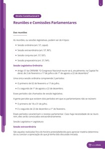 Reuniões e comissões parlamentares - Resumo