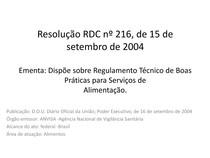 Aula BPF (RDC Nº216) - Edificação, instalações, equipamentos, móveis e utensílios Parte 1