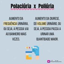 polaciúria X Poliúria