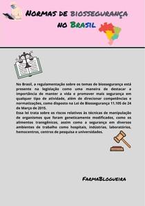 Normas de biossegurança no Brasil