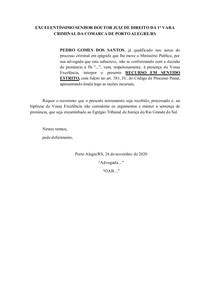 MODELO RECURSO EM SENTIDO ESTRITO