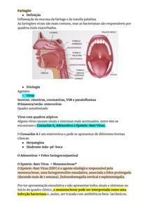 Resumo de Faringite na pediatria