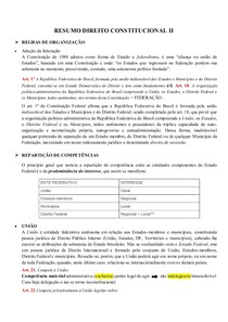 RESUMO DIREITO CONSTITUCIONAL II