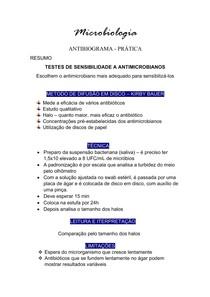 Microbiologia - Antibiograma