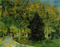 Vincent Willem van Gogh  - A Lane in the Public Garden at Arles