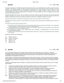 AVALIAÇÃO GERAL PSICOLOGIA