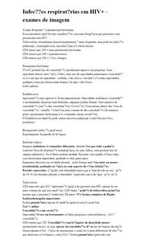 Infecções respiratórias em HIV+ - exames de imagem
