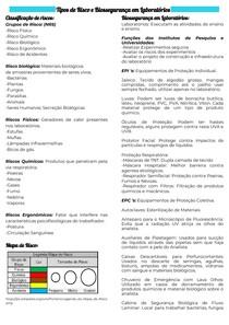 Tipos de Risco e Biossegurança em Laboratórios
