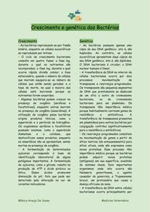 Crescimento e genética de Células Bacterianas