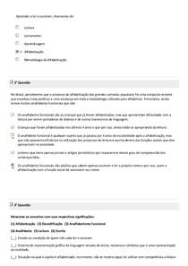 Exercicios de metodologia, pratica de Alfabetização e Letramento