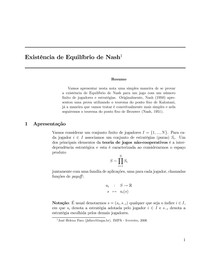 Existência de Equilíbrio de Nash