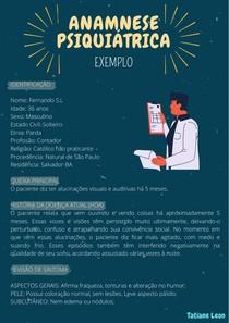 Anamnese Psiquiátrica EXEMPLO