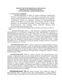 Eatudo Dirigido Hipersensibilidades - Imunologia 97c3e9f3e1