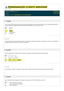Simulados 1 ao 10 - Programação Cliente Servidor