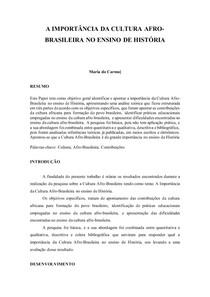 entrega_2 - A IMPORTÂNCIA DA CULTURA AFRO-BRASILEIRA NO ENSINO DE HISTÓRIA