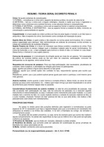 RESUMO   TEORIA GERAL DO DIREITO PENAL II