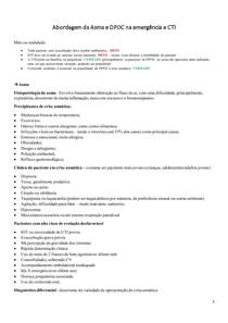 Asma e DPOC na emergência e CTI