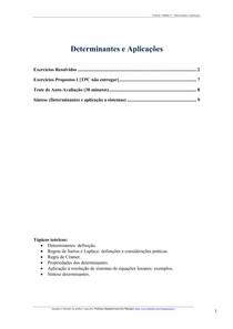 Determinantes e Aplicações