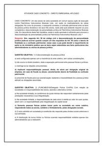 Direito empresarial caso concreto 2