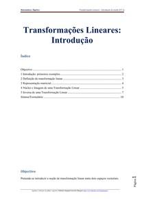 Transformações Lineares [FT1] Teoria