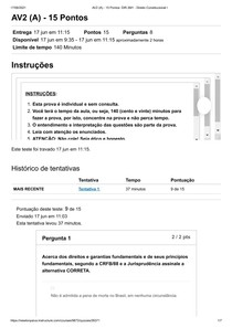 AV2 (A) - 15 Pontos_ DIR 3M1 - Direito Constitucional I