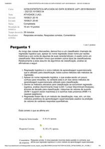 ATIVIDADE 2 ESTATISITICA APLICADA AO DATA SCIENCE