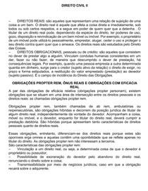 RESUMÃO COMPLETO DE TODA A MATÉRIA DE DIREITO CIVIL II (FEITO POR UM AMIGO)