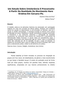 Preconceito ou Intolerância Religiosa sob Movimento Hare Krishna em Caruaru-PE.docx
