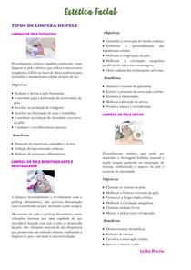 Tipos de limpeza de pele