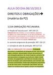 AULA DE DIREITOS E OBRIGAÇÕES Prof.:SERGIO FRANCO