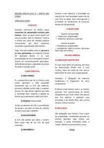 DIREITO CIVIL IV - DIREITO DAS COISAS - CONCEITO - POSSE - PROPRIEDADE - USUCAPIÃO- ACESSÕES NATURAIS E CIVIS