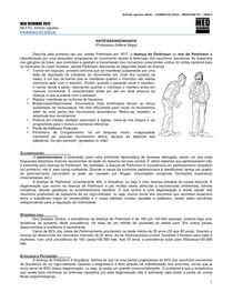 FARMACOLOGIA 12 - Antiparkinsonianos - MED RESUMOS (DEZ-2011)