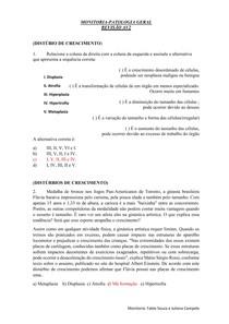 REVISÃO AV2- Patologia