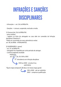 INFRAÇÕES E SANÇÕES DISCIPLINARES