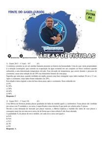 FICHA 4 DE QUESTÕES - ÁREAS DE FIGURAS