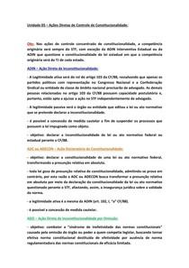fmu   DP.ADAP   DIREITO CONSTITUCIONAL   CONTROLE DE CONSTITUCIONALIDADE   AÇÕES