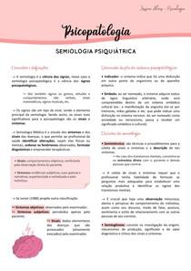 Psicopatologia - Semiologia psiquiátrica