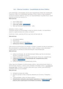 Av1 - Ciências Contábeis - Contabilidade do Setor Público