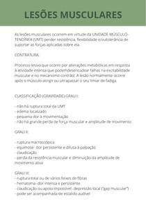 LESÕES MUSCULARES - GRAU I, II E III