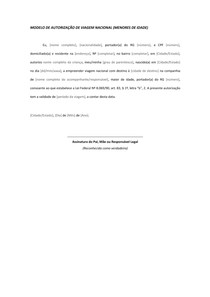 Modelo De Autorização De Viagem Nacional Basquete