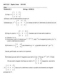 Mat1210 - Trabalho 2 (G1) - 2012-02
