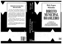 Direito Municipal Brasileiro_16ª Edição_Hely Lopes Meirelles