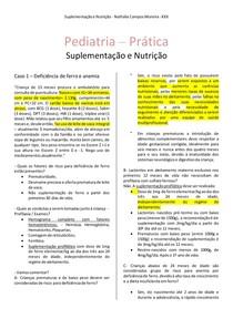 Suplementação e Nutrição - Casos Clínicos