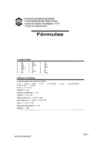 MATERIAL DE APOIO - UNIFOR-FORMULAS CALCULO 1