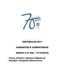 PUC RJ 2011 - GABARITO - Ciências da Natureza (questões objetivas)
