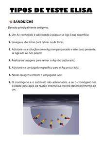 TESTE DE ELISA - SANDUÍCHE